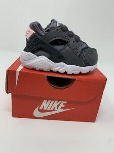 Image is loading BABY-GIRL-Nike-Huarache-Run-SE-Shoes-Gray- 2be3d644b