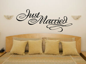 Details About Just Married Car Bedroom Living Dining Room Decal Wall Art Sticker Picture Decor