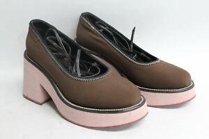 MARNI-Ladies-Brown-amp-Pink-Ankle-Strap-High-Heel-Platform-Shoes-Size-EU37-UK4