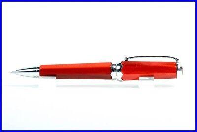 Montegrappa 0,5 Mm Bleistift In Silber & Rotem Zelluloid / Taschengröße / Pencil