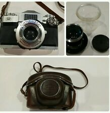 Vintage Zeiss Ikon Contaflex Synchro-Compur 50 mm Camera. Original Case, Lens