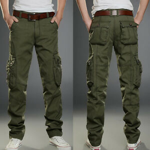 Mens Motorcycle Pants Tactical New Overalls Leisure Cargo Pocket ...