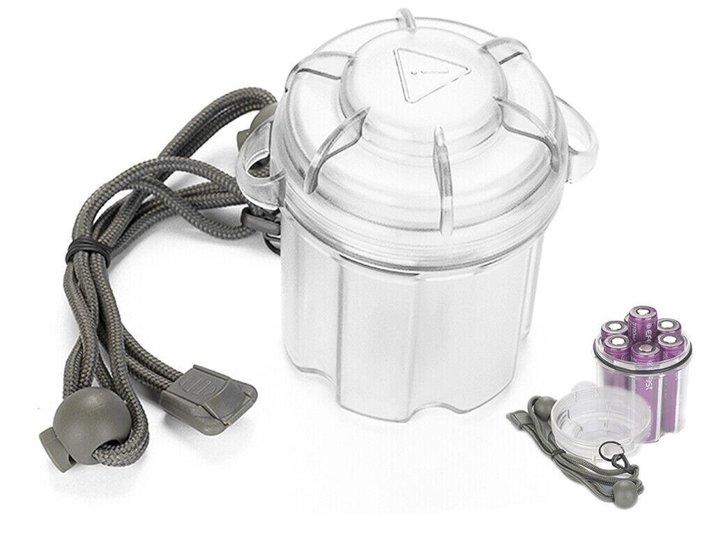 Waterproof Storage Box for 6x 18650 Batteries