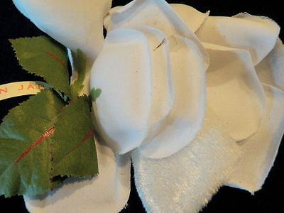 Vintage Millinery Flower White Fabric Hat Wedding Bridal Fascinator Hair T25