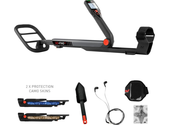 Minelab Go-Find 66 Metal Detector with 10