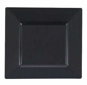 Image is loading 120-ct-Black-Disposable-Square-Plates-&-Bowls-  sc 1 st  eBay & 120 ct. Black Disposable Square Plates \u0026 Bowls Look Real \