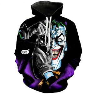 ab8d2e100bd Details about Fashion Women Men 3D Print Funny Joker Squad Hip Hop Hoodies  Pullover Sweatshirt
