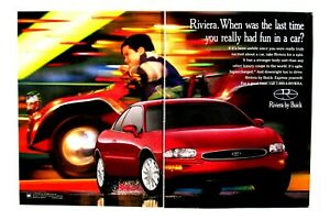 1995 Buick Riviera Vintage Last Time You Had Fun Driving Original Print Ad 2Page