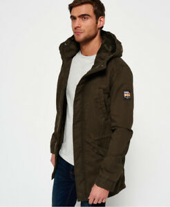 Image is loading New-Mens-Superdry-Classic-Rookie-Military-Parka-Coat- 1b9f8ffb19f