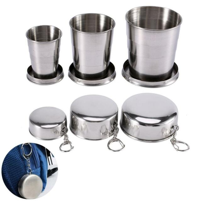 Stainless Steel Portable Folding Cup Telescopic Collapsible Travel Camping Cup