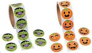 200-Stickers-100-x-Pumpkin-Stickers-100-x-Frankenstein-Stickers-Halloween