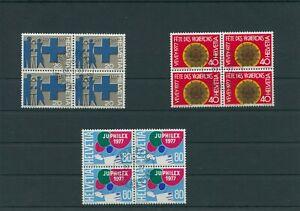 Switzerland-vintage-yearset-1977-Mi-1087-1089-Postmarked-4-er-Bl-More-Shop