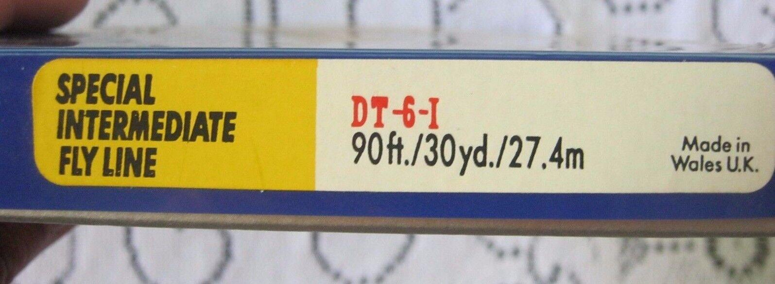 Nummern Sb Airflo Fliegenfischen Mittleres 27.4m DT-6-1 DT-6-1 DT-6-1 Speziell Linie Wales UK 871d5d
