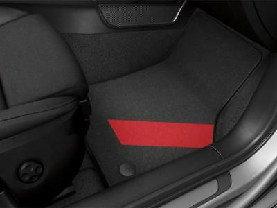 NEW OEM 2015 /& 2018 Audi A3 /& E-tron Textile Mats Red Stripe SET /'4/' 8V1061271D