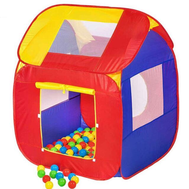 Tenda Casetta Giochi Bambini Con 200 Palline Gioco Salvaspazio Pieghevole Pop-Up