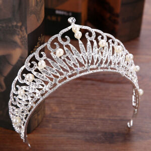 7cm-High-Large-Bridal-Adult-Crystal-Pearl-Wedding-Party-Pageant-Prom-Tiara-Crown