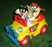 RARE 1994 TYCO (BABY) LOONEY TUNES WIND UP TOY CAR WARNER BROS TAZZ,BUGS BUNNY