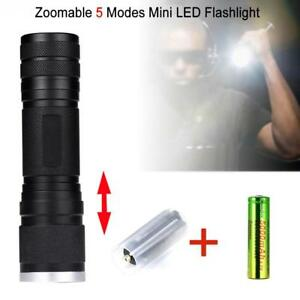 Zoomable-6000-LM-Pocket-LED-Flashlight-5-Modes-Waterproof-Torch-Mini-Penlight-BT