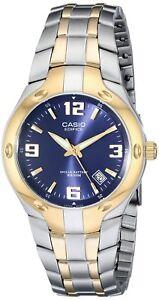 Casio-Men-039-S-Edifice-Quartz-Two-Tone-Stainless-Steel-100m-Watch-EF106SG-2A