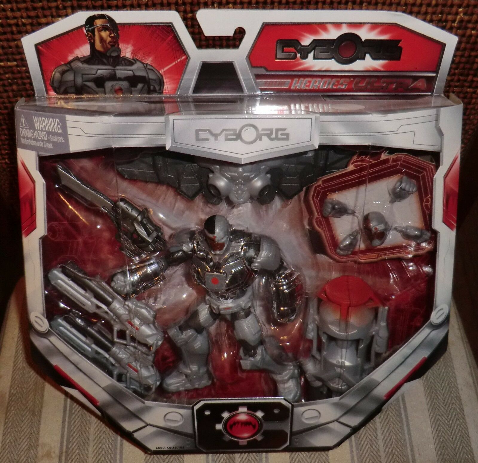 Dc Universe Cyborg total Heroes Ultra Sdcc 2014 Matty Exclusivo Moc