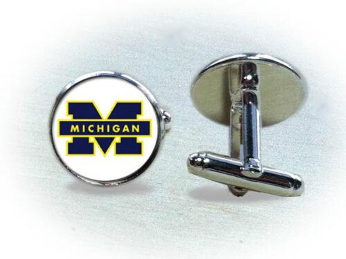 Pick One Michigan Wolverines Cufflinks or Tie Clip