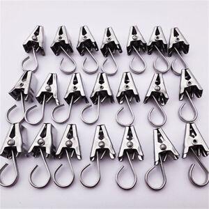 10-35mm-Mini-Silber-Ton-Edelstahl-Kleidung-amp-Vorhaenge-Haken-Waescheklammern-30stk