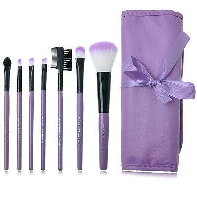 7pcs/set Makeup Blush Eyeshadow Lip Brush Cosmetic Brushes Set Kit + Bag Case XJ