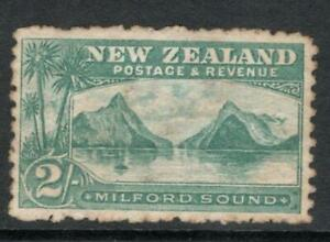 N.Z. 1906  2/-. Mixed Perfs SG 347   Mounted Mint + Gum  Average  Looking See ?