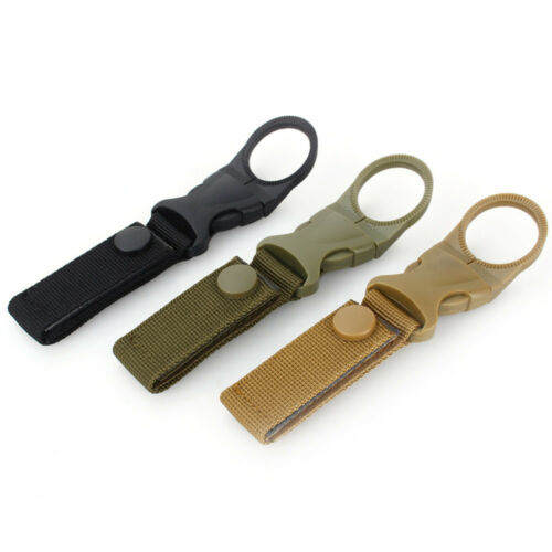 Water Bottle Holder Outdoor Camping Hiking Tactical Carabiner Nylon Belt Buckle