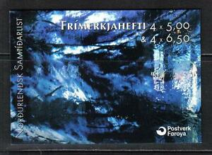 Faroe-Is-2002-Contemporary-Art-complete-booklet-Attractive-Topical-417a-MNH