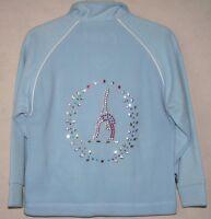 Glitzy Gymnastics Fleece Dress Jacket 5-6yrs With Sparkling Motifs