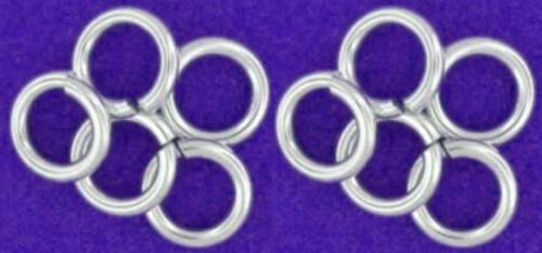 6 MM 1 MM WIRE 10 STRONG HEAVY STERLING SILVER OPEN JUMP RINGS TOP QUALITY