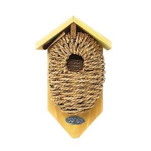 Esschert-Modele-Pin-Bois-Jardin-Roitelet-Facile-Suspendu-Montage-Oiseau-Mangeoir