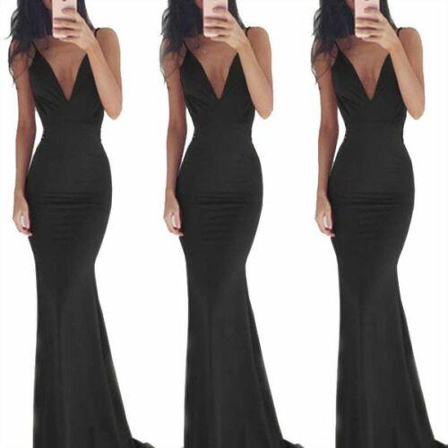 Evening Long Maxi Dress Cocktail beach women/'s Fashion V Neck Womens Sleeveless