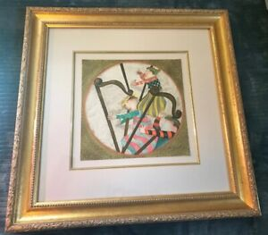 BOULANGER-GRACIELA-RODO-HARPS-LITHOGRAPH-SIGNED-NUMBERED-AND-FRAMED