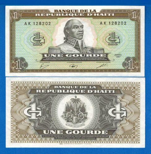 Haiti P-245 1 Gourtde Year 1987 Uncirculated Banknote