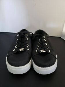 LIZ-CLAIBORNE-LC-Warwick-Sneakers-Womens-Sz-8-5-M-Black-Shoes-Silver-Accents