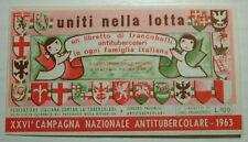 1963   XXVI° CAMPAGNA  ANTITUBERCOLARE - LIBRETTO completo 1° serie