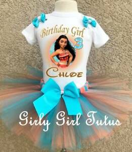 43c677709 Image is loading Disney-Moana-Girls-Personalized-Birthday-Tutu-Outfit-Party-