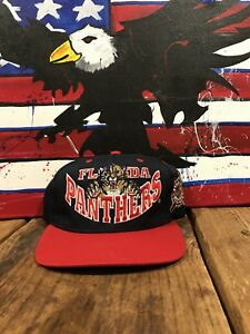 low priced 0a6f7 7d3f6 Details about VINTAGE FLORIDA PANTHERS NHL NATIONAL HOCKEY SNAPBACK HAT