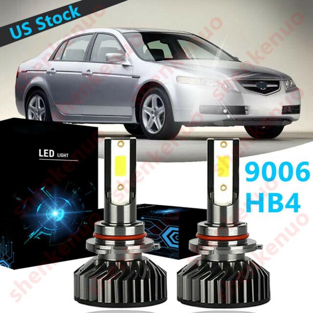 9006 HB4 LED Fog Light Bulb 6000K White F2 For Acura TL