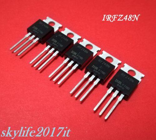 5 pezzi IRFZ 48 N 5 pz MOSFET IRFZ48N HEXFET Power N-channel 55V 64A 94W