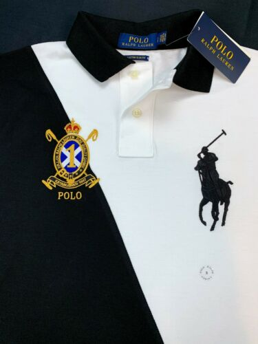Polo Ralph Lauren Big Pony Crest Embroidered Custom Slim Fit Mens Mesh Shirt