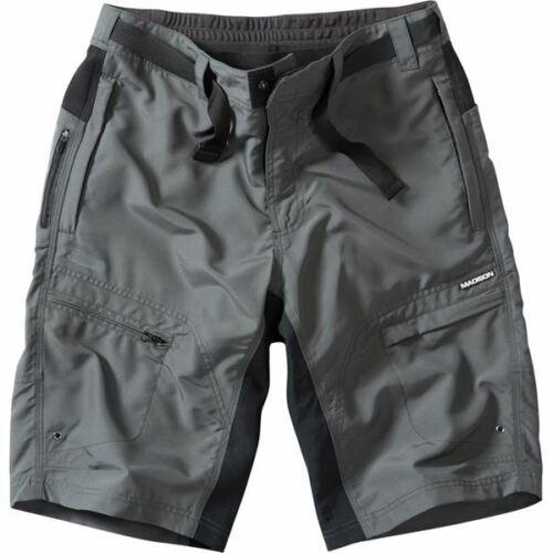 Madison Trail Men/'s Bicycle Cycle Bike Shorts Dark Grey Shadow