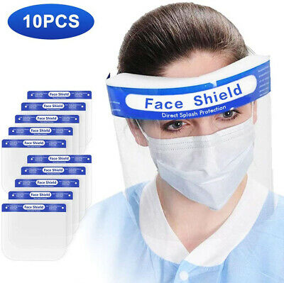 5PCS Safety Full Face Shield Clear Protector Work Medical Dental Standard Size
