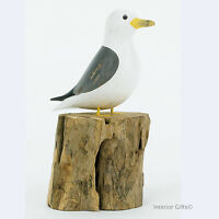 Archipelago Small Seagull D353 Common Gull Sea Bird Watching Hand Wood Carving