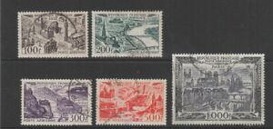 France-1949-1950-Air-set-fine-used-SG-1055-1059-Cat-60