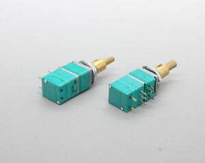 2 x 9mm ALPS B10K 10K Linear Taper Potentiometer w Switch & Encoder 18mm Shaft