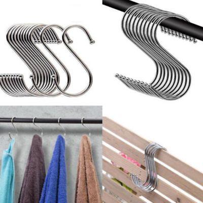 """5 Pcs /""""S/"""" Shape Hook /& Rails Kitchen Bathroom Garden Plant Pot Hanging Hangers"""