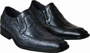 Party Geico da Print uomo Formal Nuovi Nero Shoes Snake mocassini eleganti grigio q6wEx00PX